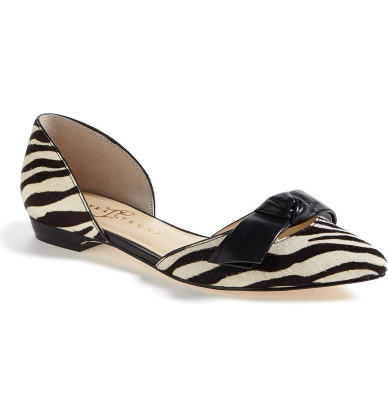 IVANKA TRUMP 'Loire' Calf Hair d'Orsay Flat, Main, color, 141