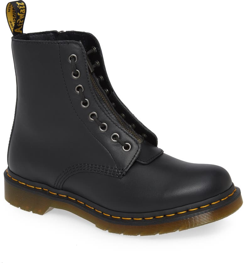 DR. MARTENS 1460 Pascal Front Zip Boot, Main, color, 001