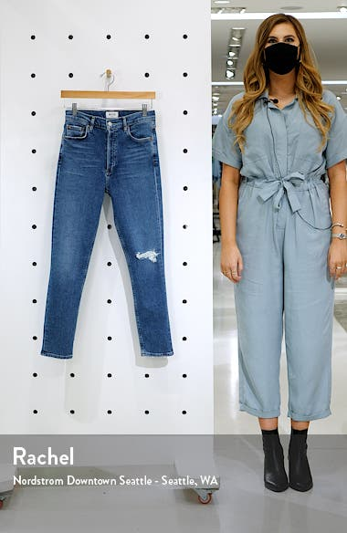 Nico Distressed High Waist Skinny Ankle Jeans, sales video thumbnail