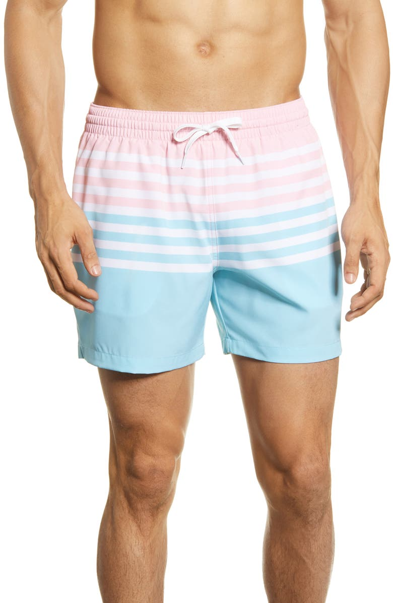 CHUBBIES On The Horizons Swim Trunks, Main, color, PINK
