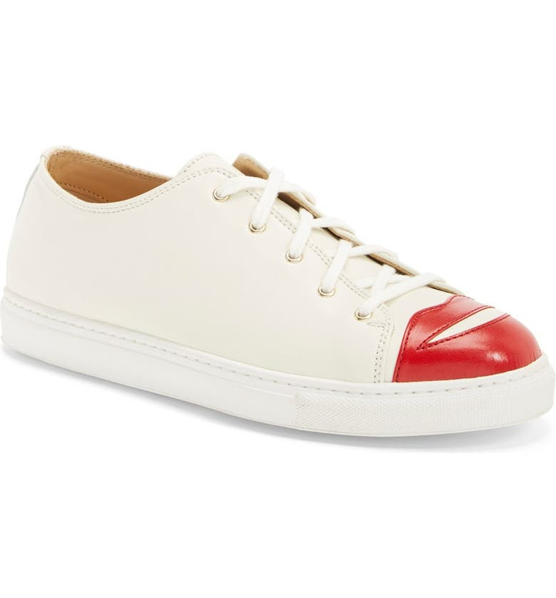CHARLOTTE OLYMPIA 'Kiss Me' Lace-Up Sneaker, Main, color, 900
