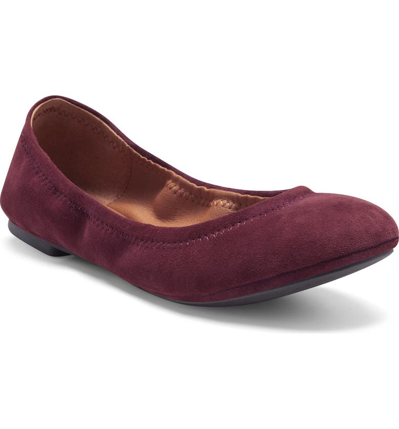 LUCKY BRAND 'Emmie' Flat, Main, color, WINDSOR WINE SUEDE