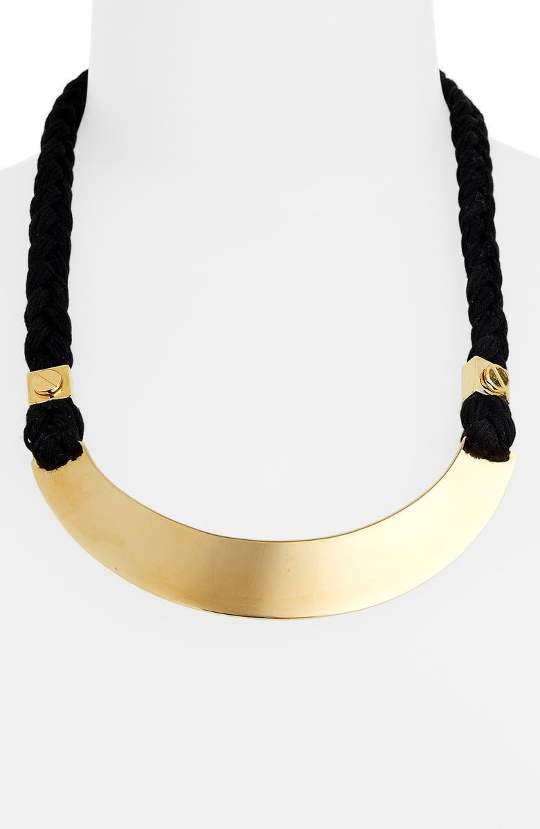 TORY BURCH Bib Necklace, Main, color, 001
