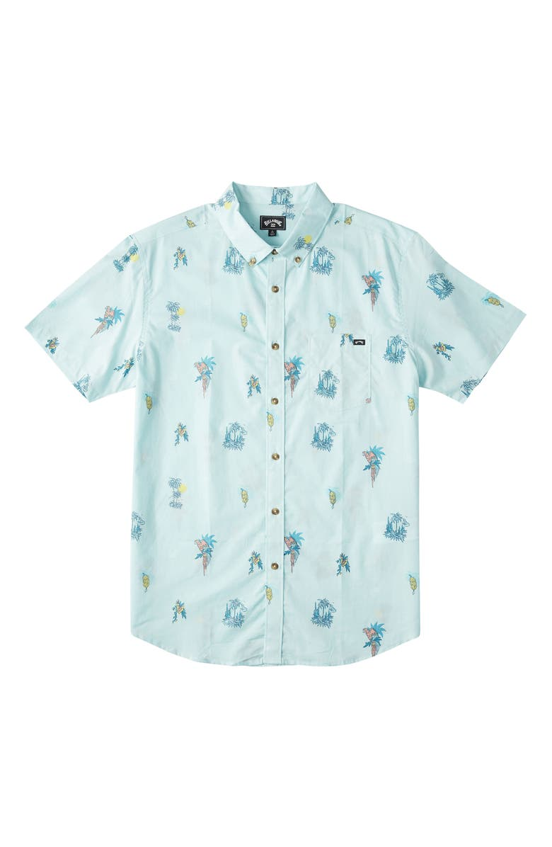 BILLABONG Kids' Sundays Button Down Shirt, Main, color, LIGHT MINT