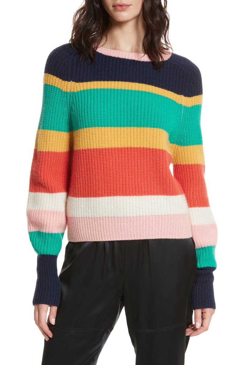 JOIE Haady Stripe Wool & Cashmere Sweater, Main, color, 475