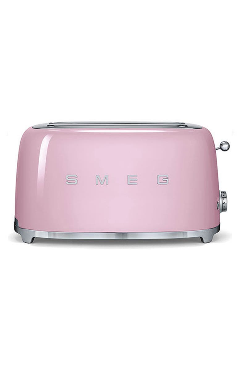SMEG 50s Retro Style Four-Slice Toaster, Main, color, PINK