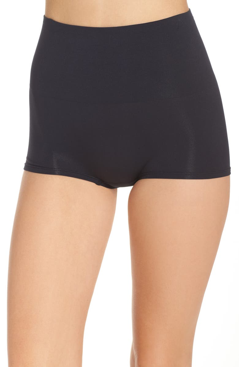YUMMIE Ultralite Seamless Shaping Girlshorts, Main, color, Black