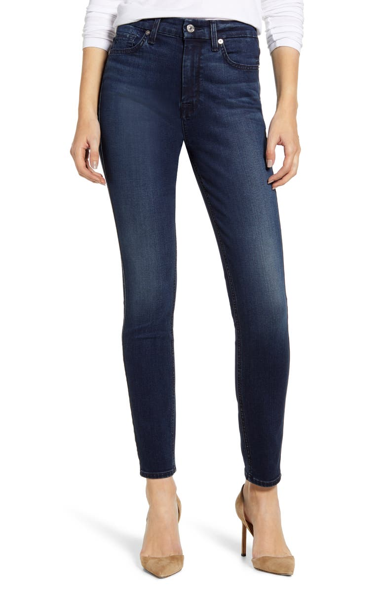 7 FOR ALL MANKIND<SUP>®</SUP> High Waist Ankle Skinny Jeans, Main, color, 401