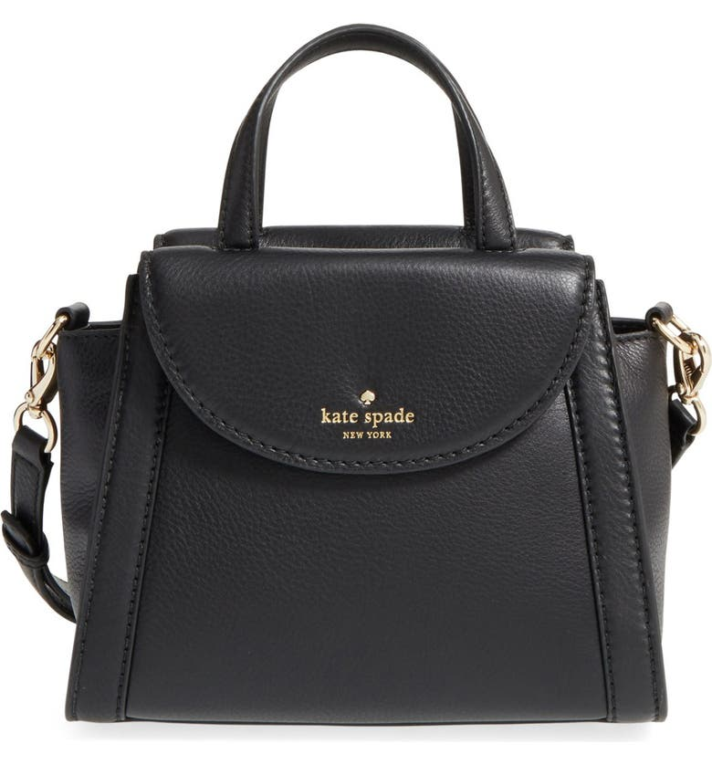 KATE SPADE NEW YORK 'cobble hill - small adrien' leather satchel, Main, color, 001