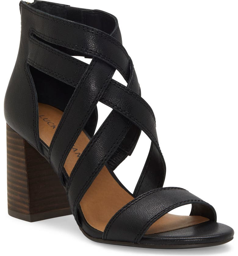 LUCKY BRAND Vrah Cage Sandal, Main, color, 001