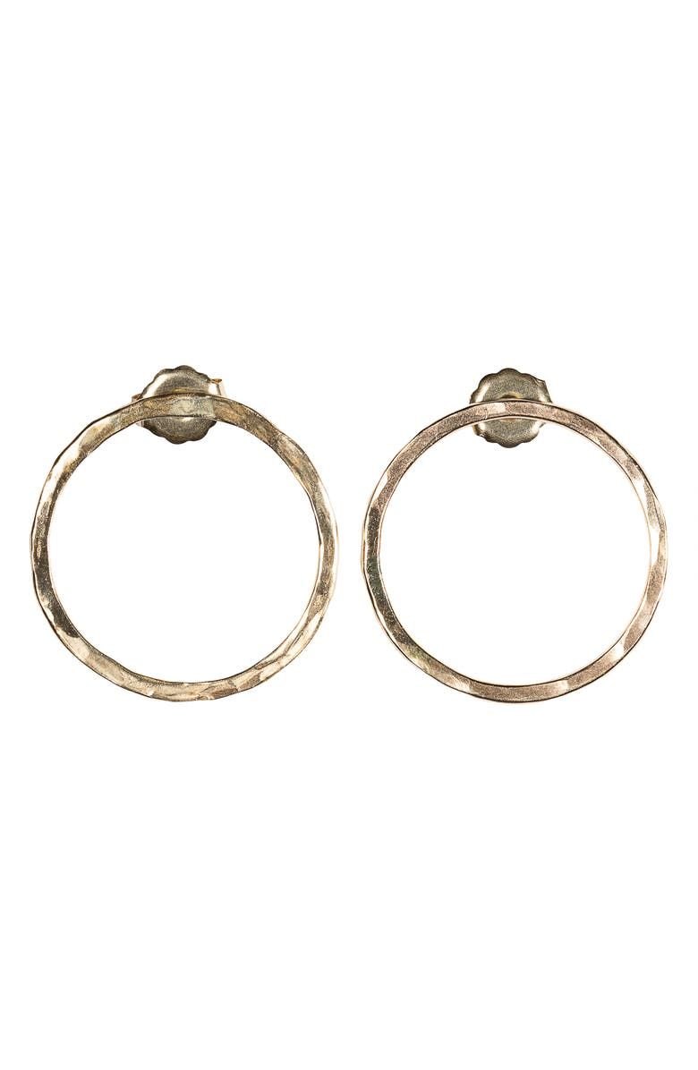 NASHELLE Faceted Bubble Post Earrings, Main, color, Gold
