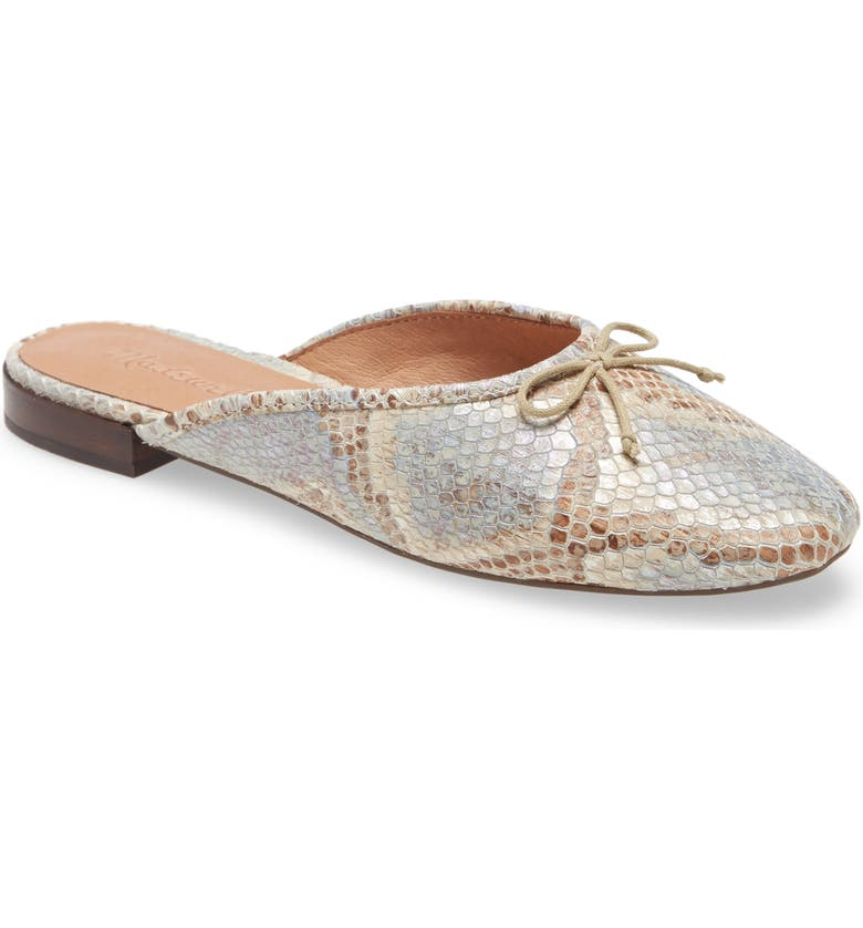 MADEWELL The Adelle Ballet Mule, Main, color, FEATHER BLUE