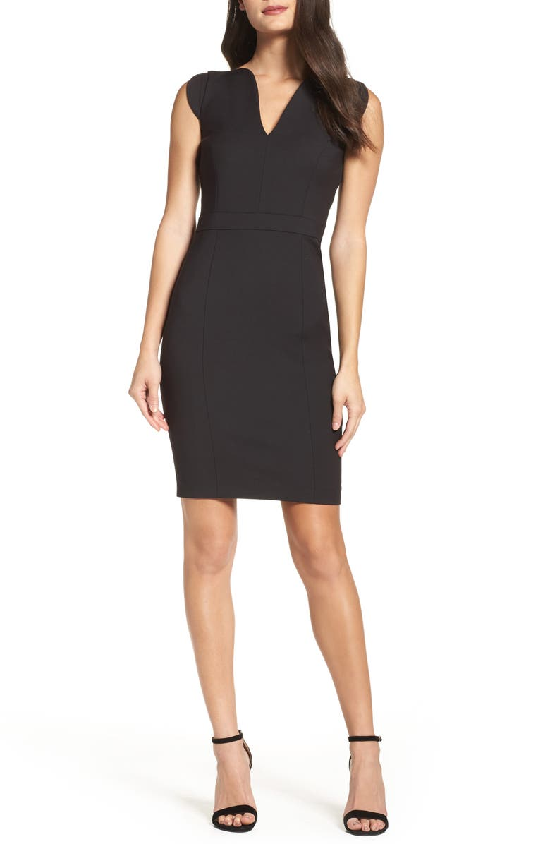 FRENCH CONNECTION 'Lolo' Stretch Sheath Dress, Main, color, 001