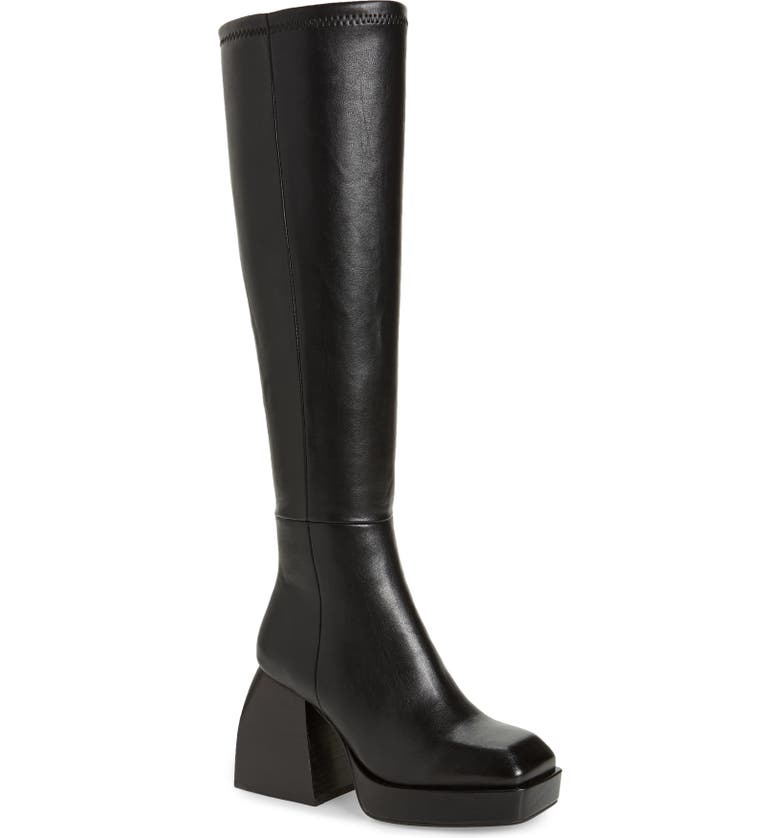 JEFFREY CAMPBELL Dauphin Over the Knee Boot, Main, color, BLACK