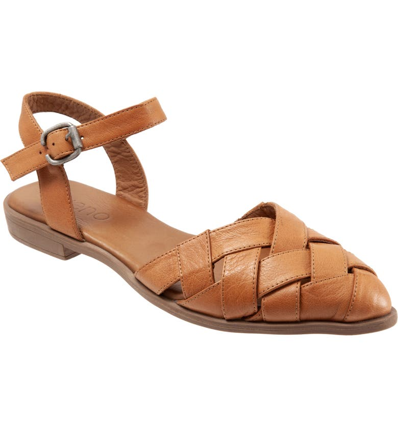 BUENO Bliss Slingback d'Orsay Flat Sandal, Main, color, TAN LEATHER