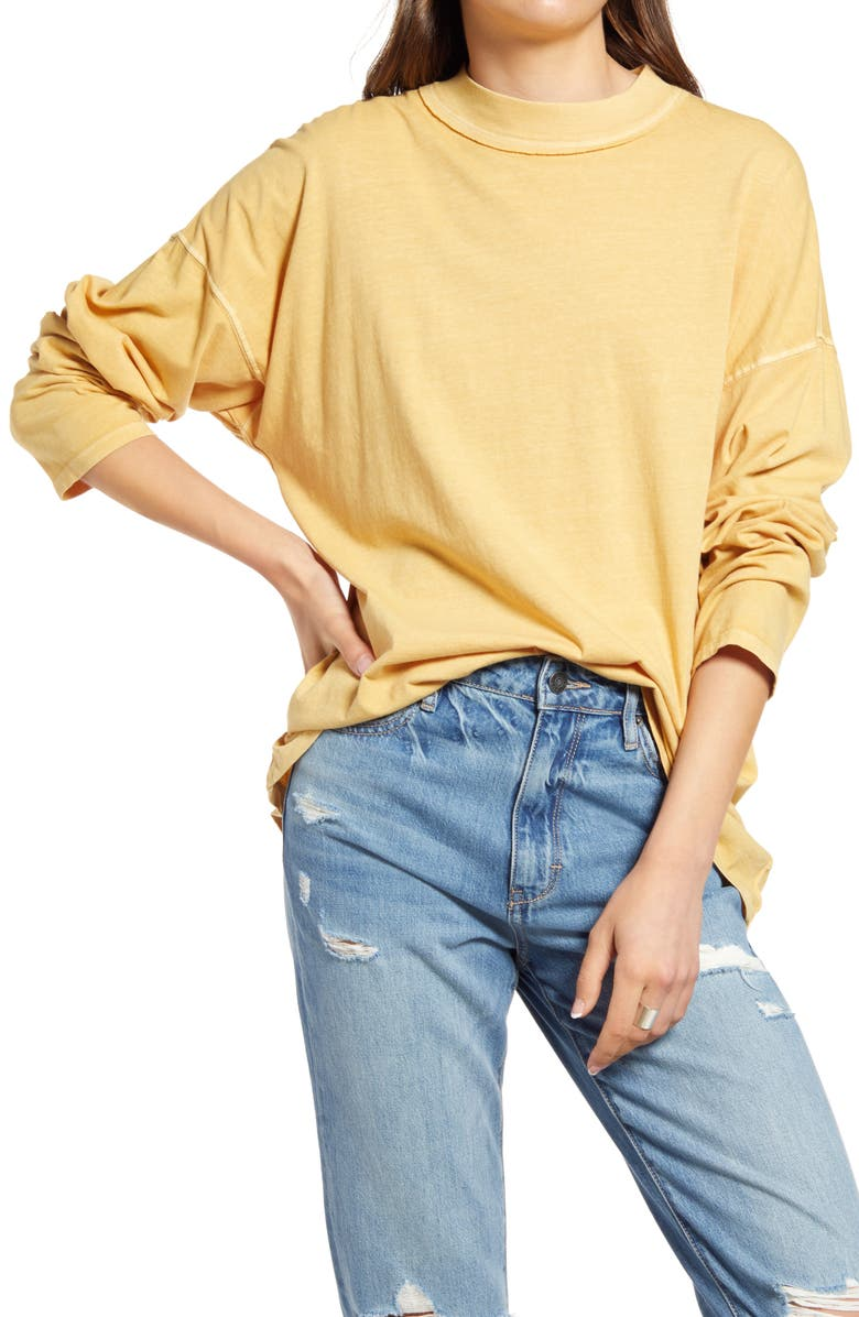FREE PEOPLE We the Free by Free People Be Free Tunic T-Shirt, Main, color, TEA TREE