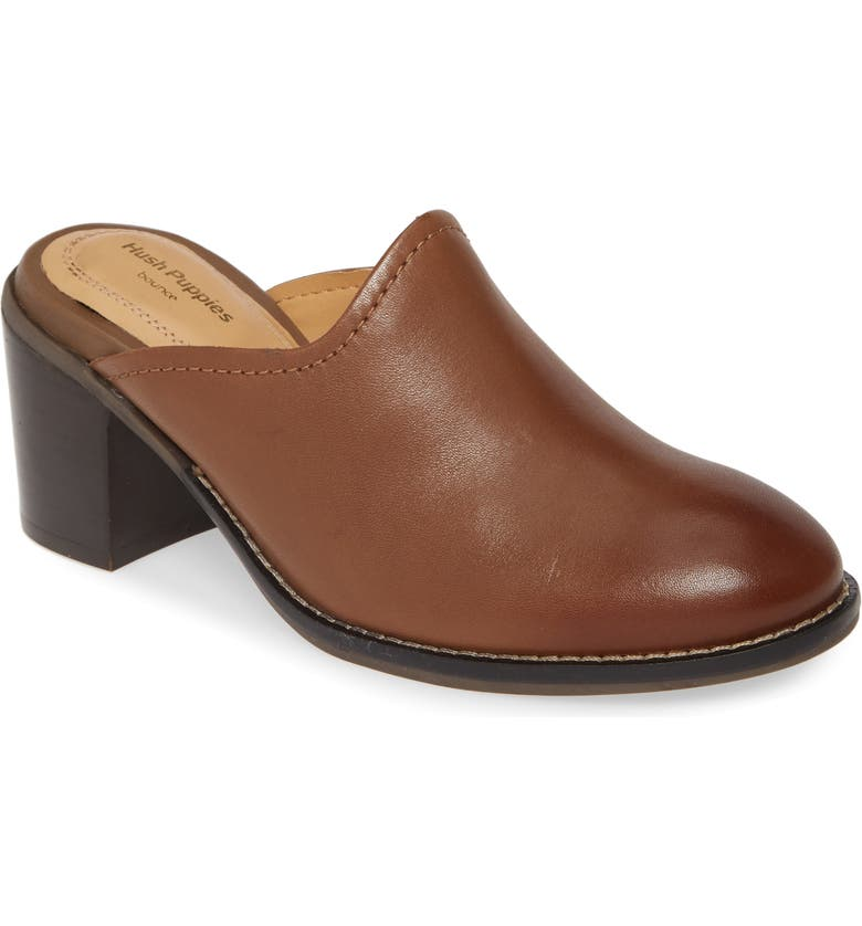 HUSH PUPPIES<SUP>®</SUP> Hannah Mule, Main, color, DACHSHUND LEATHER