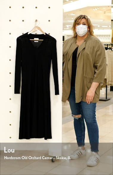 Long Sleeve Knit Shirtdress, sales video thumbnail
