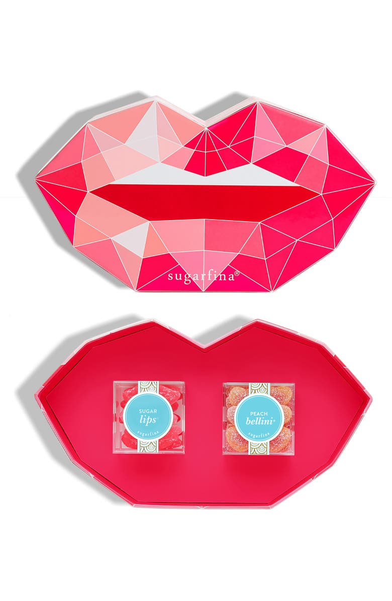 SUGARFINA Pucker Up Set of 2 Candy Cubes, Main, color, RED