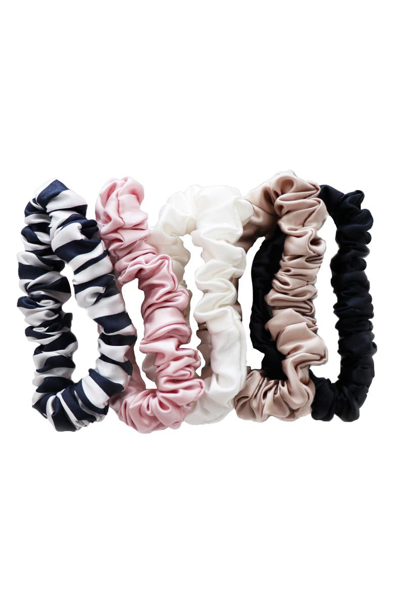 SLIP Pure Silk 5-Pack Midi Hair Ties, Main, color, MIXED