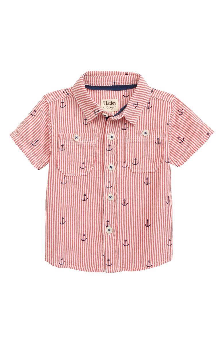 HATLEY Anchors Button-Down Shirt, Main, color, 100