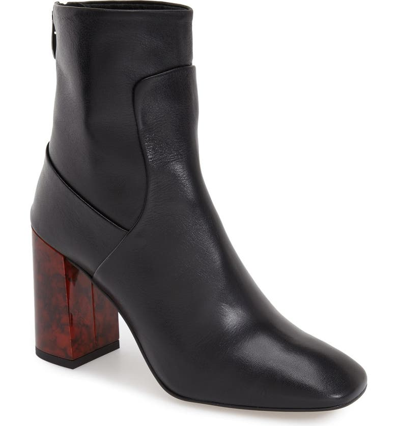 TOPSHOP 'Master Tortoise Shell' Bootie (Women), Main, color, 001