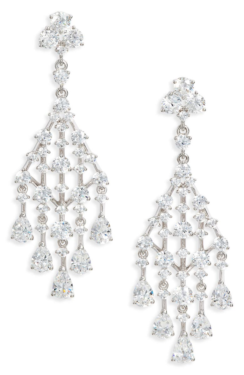 NADRI Evie Chandelier Earrings, Main, color, 040