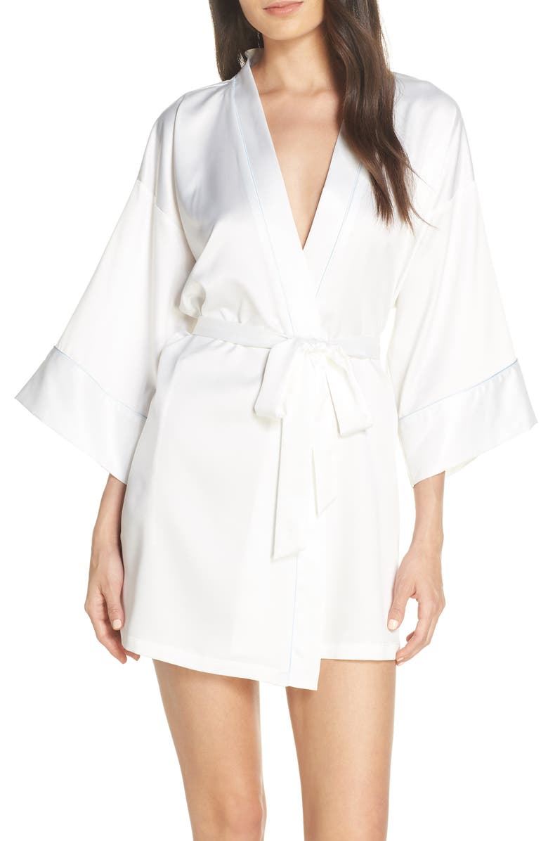 IN BLOOM BY JONQUIL The Bride Satin Wrap, Main, color, OFF-WHITE