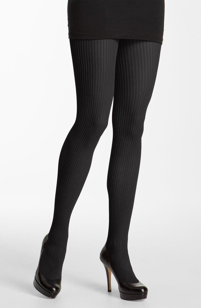 NORDSTROM Ribbed Tights, Main, color, 001