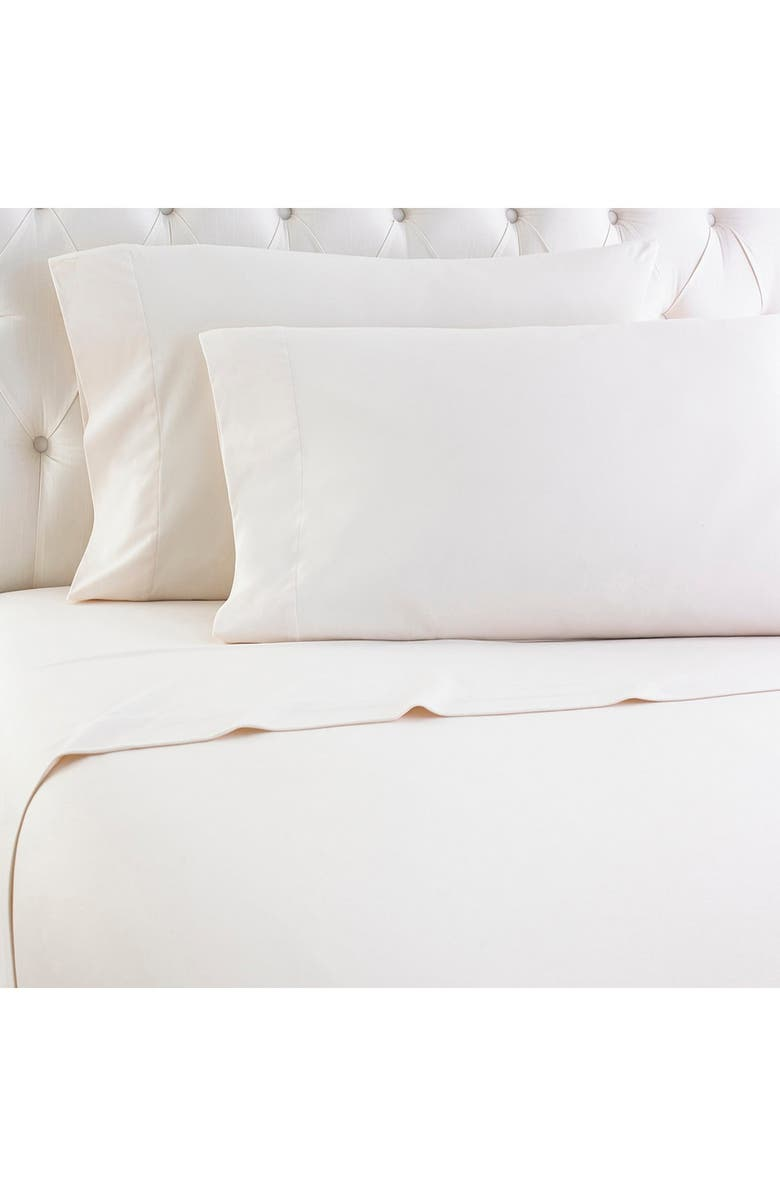 SHAVEL Ivory Micro Flannel Queen Sheet Set, Main, color, IVORY