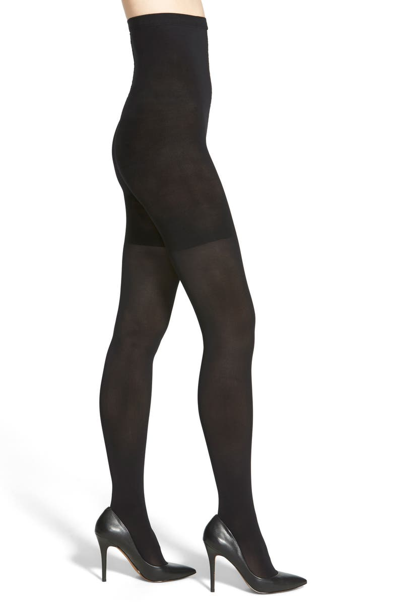 SPANX<SUP>®</SUP> High Waist Luxe Tights, Main, color, VERY BLACK
