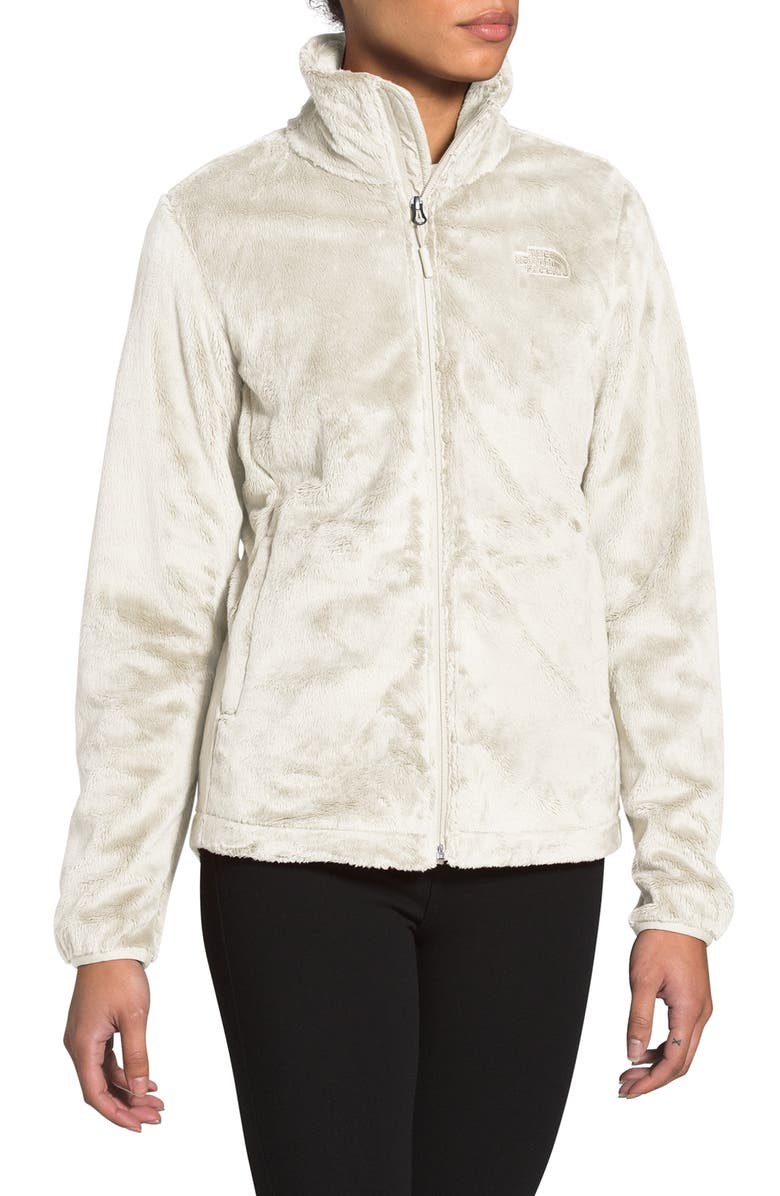 THE NORTH FACE Osito Quarter-Zip Pullover Sweatshirt, Main, color, VINTAGE WHITE