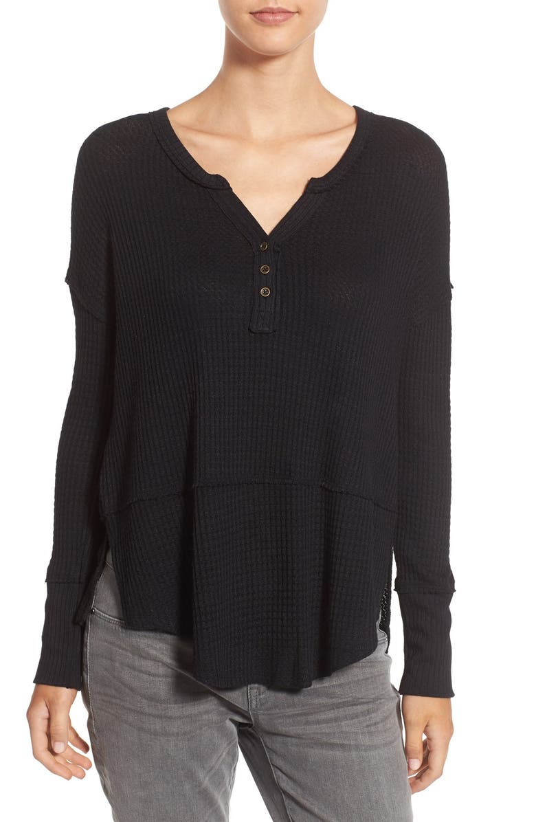 LOVE ON A HANGER Thermal Henley Top, Main, color, 001