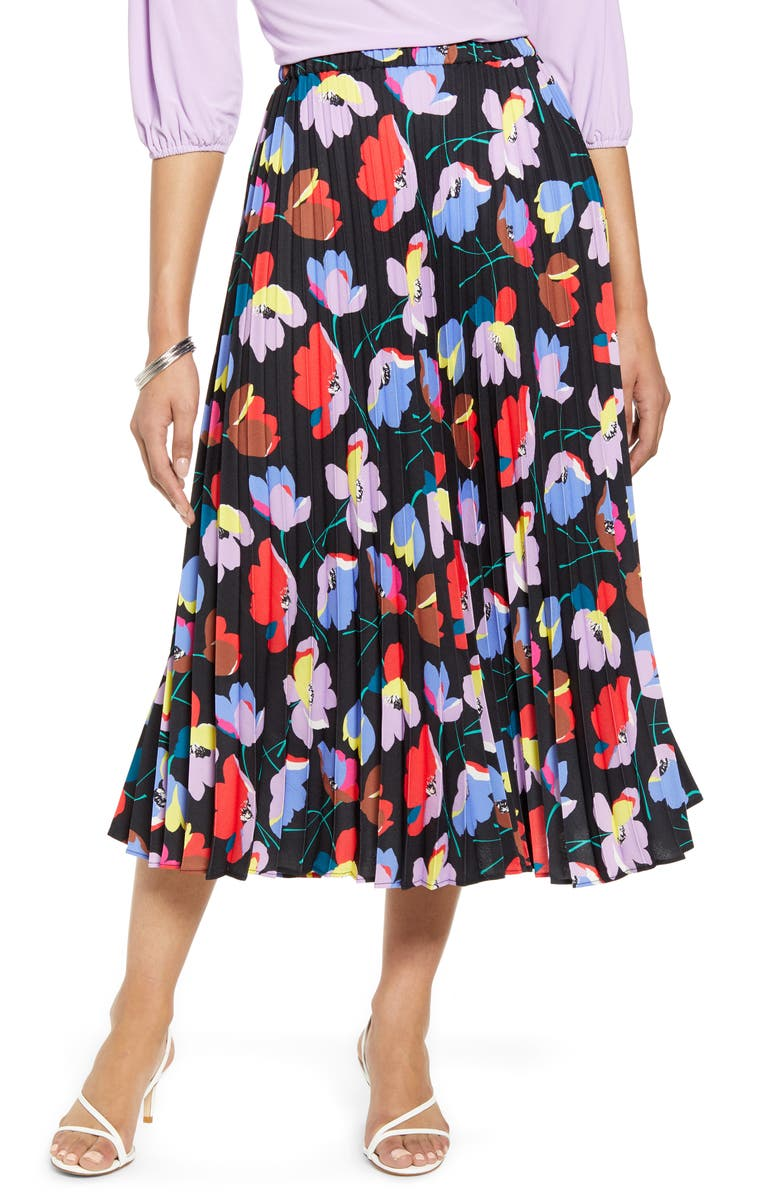 HALOGEN<SUP>®</SUP> Pleated Midi Skirt, Main, color, 002