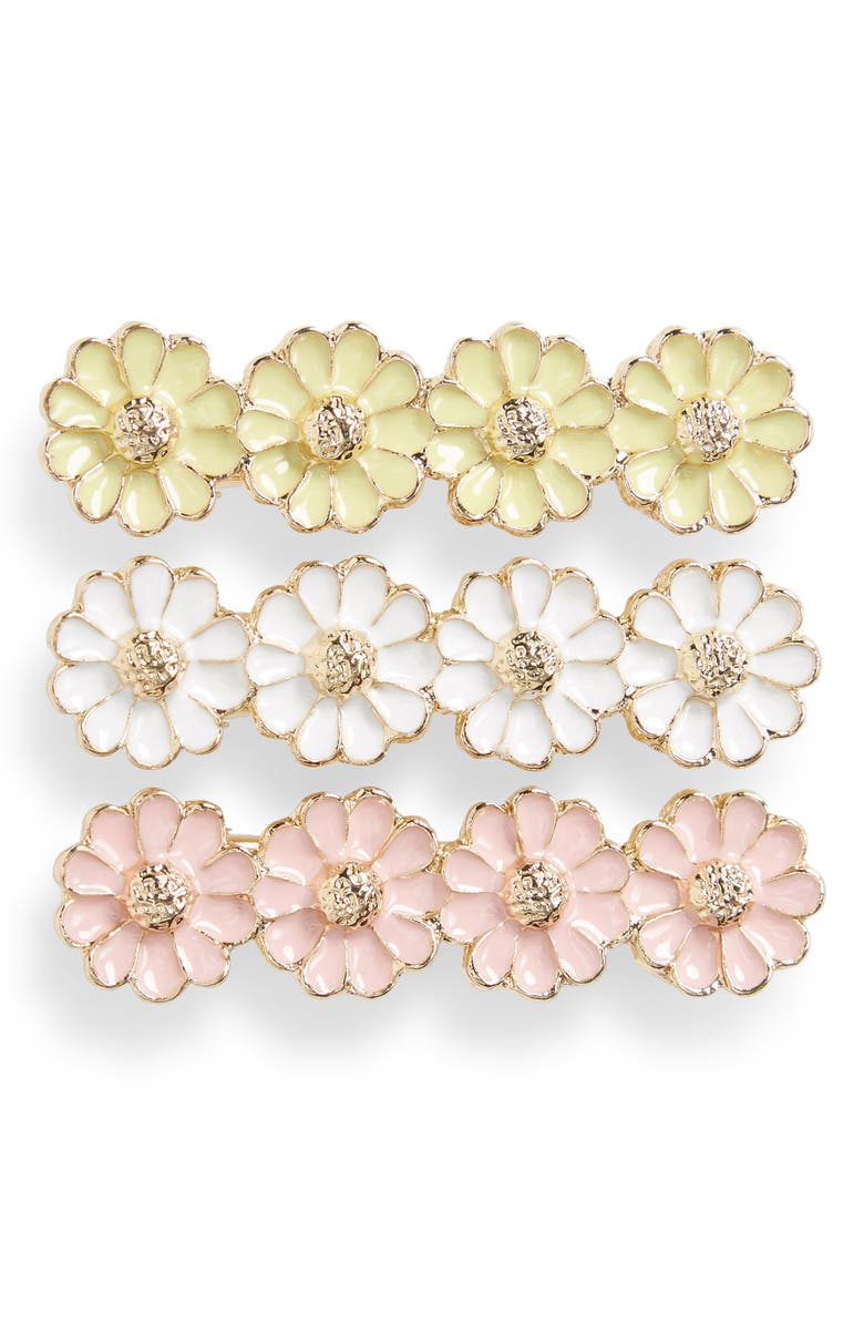 L. ERICKSON 3-Pack Floral Hair Clips, Main, color, 700