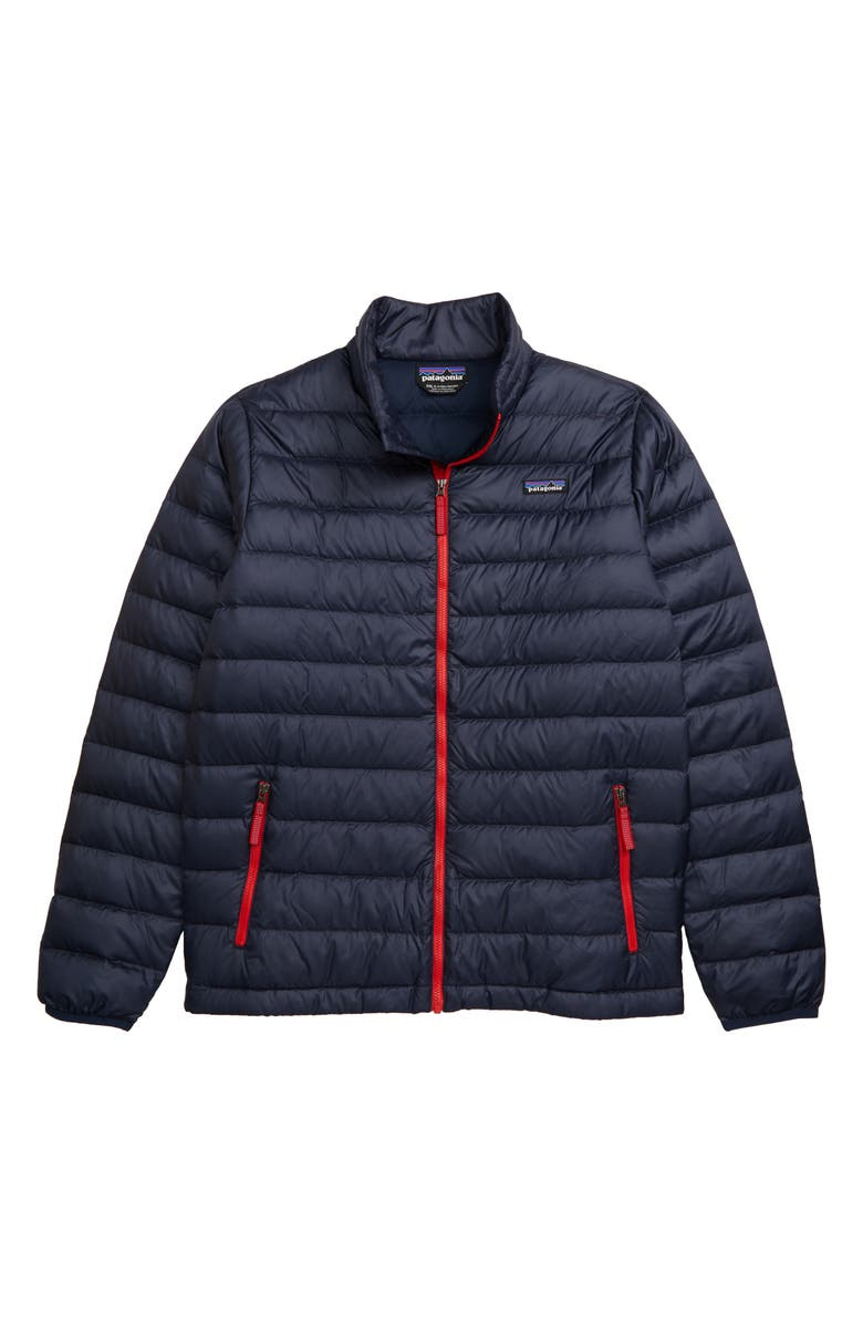 PATAGONIA Recycled 600 Fill Power Down Jacket, Main, color, NEW NAVY