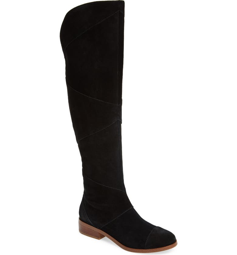 SOLE SOCIETY Tiff Over the Knee Boot, Main, color, Black