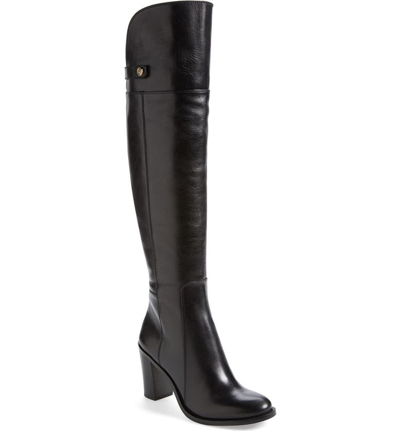 LOUISE ET CIE 'Navaria' Over the Knee Leather Boot, Main, color, 001
