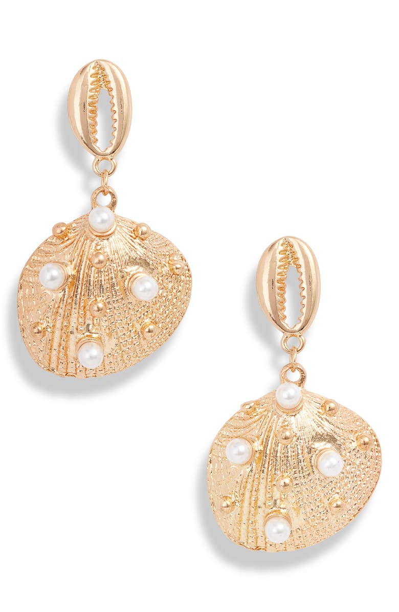 8 OTHER REASONS Sandra Shell Drop Earrings, Main, color, 710