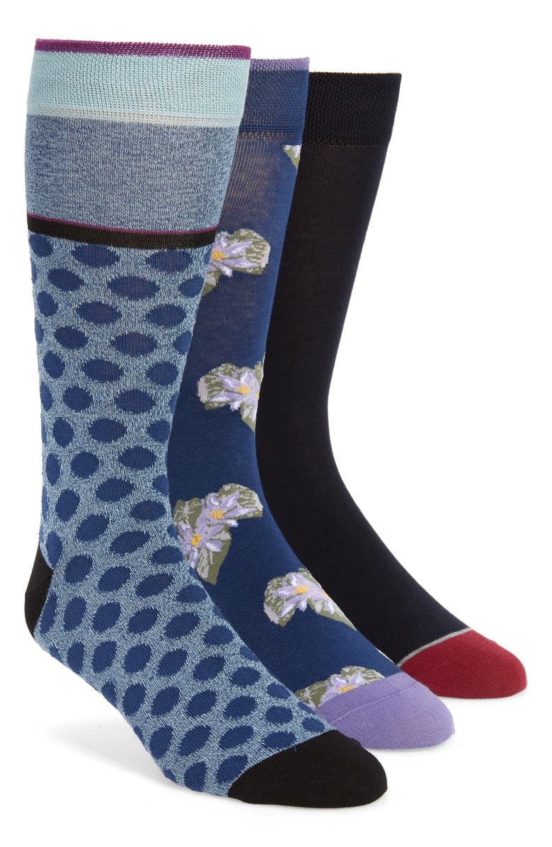 TED BAKER LONDON 3-Pack Socks, Main, color, 400
