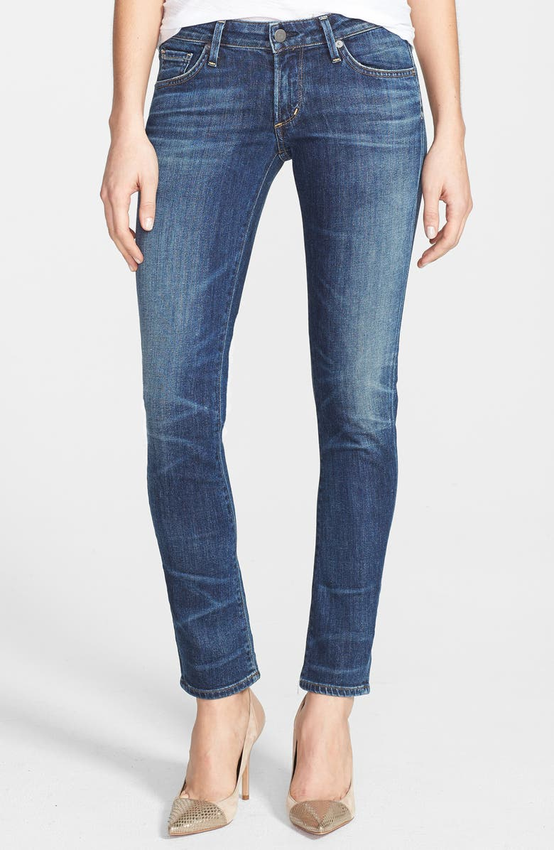 CITIZENS OF HUMANITY 'Racer' Whiskered Skinny Jeans, Main, color, PATINA
