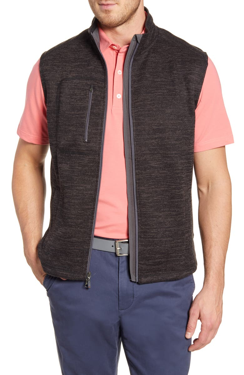 JOHNNIE-O Tahoe Fleece Vest, Main, color, 001