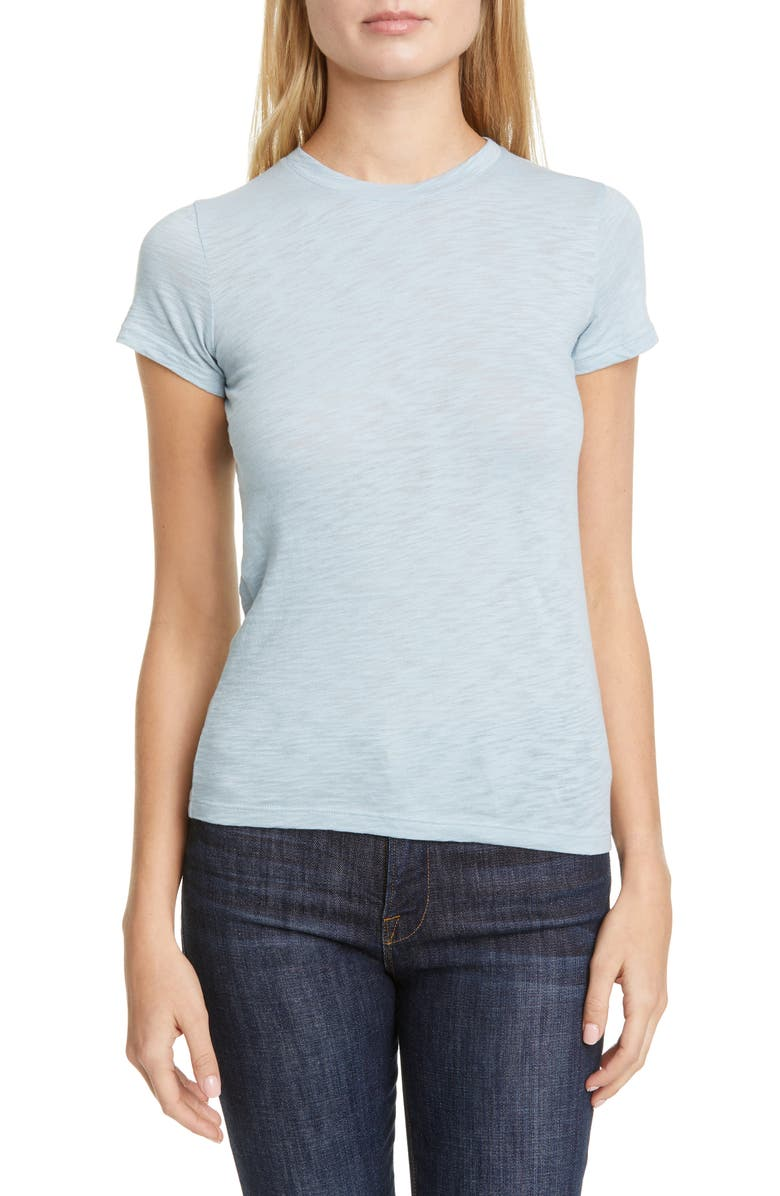 THEORY Rodiona Nebulous Slub Organic Cotton Tee, Main, color, 475