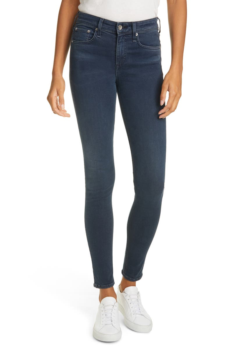 RAG & BONE Cate High Waist Skinny Jeans, Main, color, TIGER LILY
