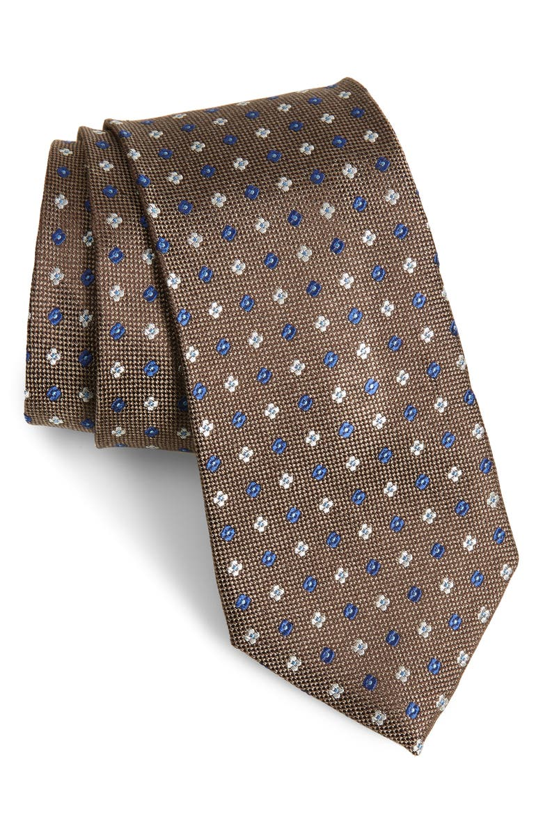 NORDSTROM MENS SHOP Siam Neat Silk Tie, Main, color, TAUPE