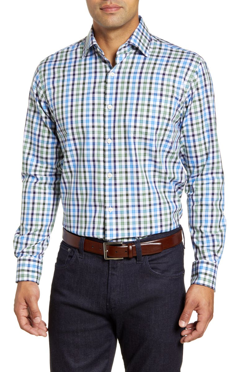 PETER MILLAR Ocracoke Check Button-Up Shirt, Main, color, 313