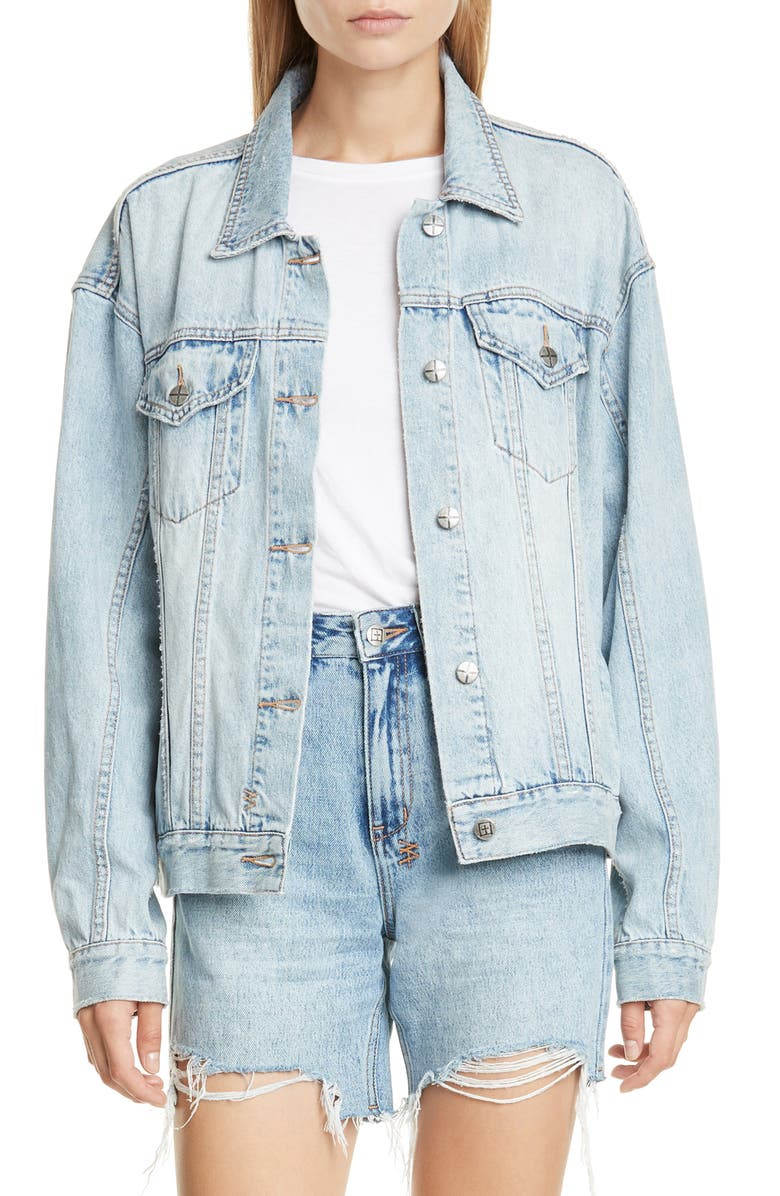 KSUBI Karma Oversize Denim Jacket, Main, color, 400