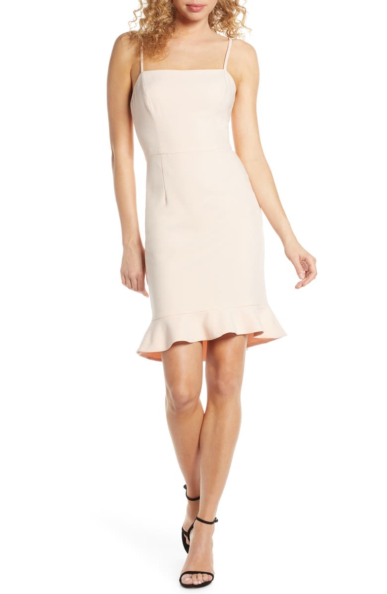 FRENCH CONNECTION Whisper Sweetheart Dress, Main, color, SATIN SLIPPER