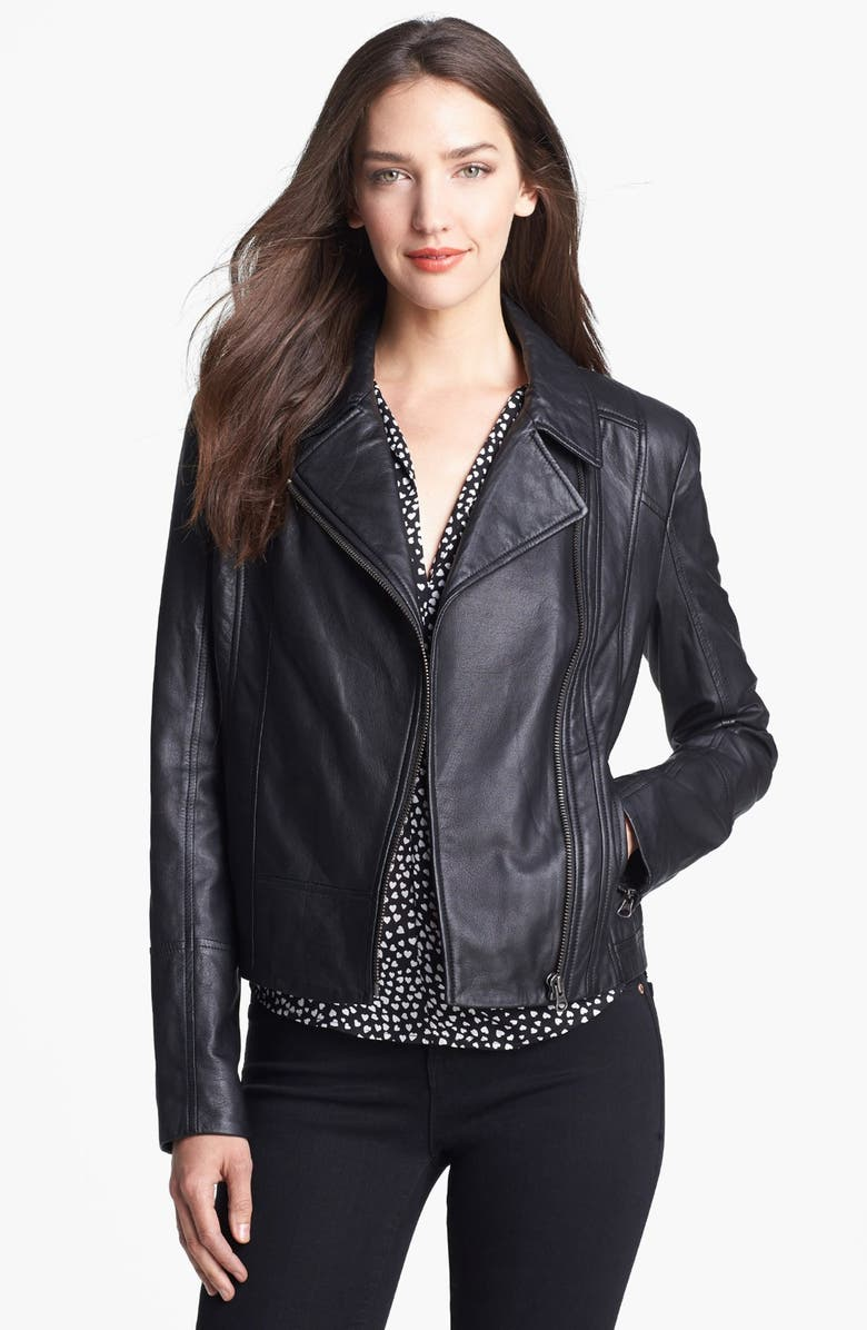TRUTH & PRIDE 'Beekman' Leather Jacket, Main, color, 001