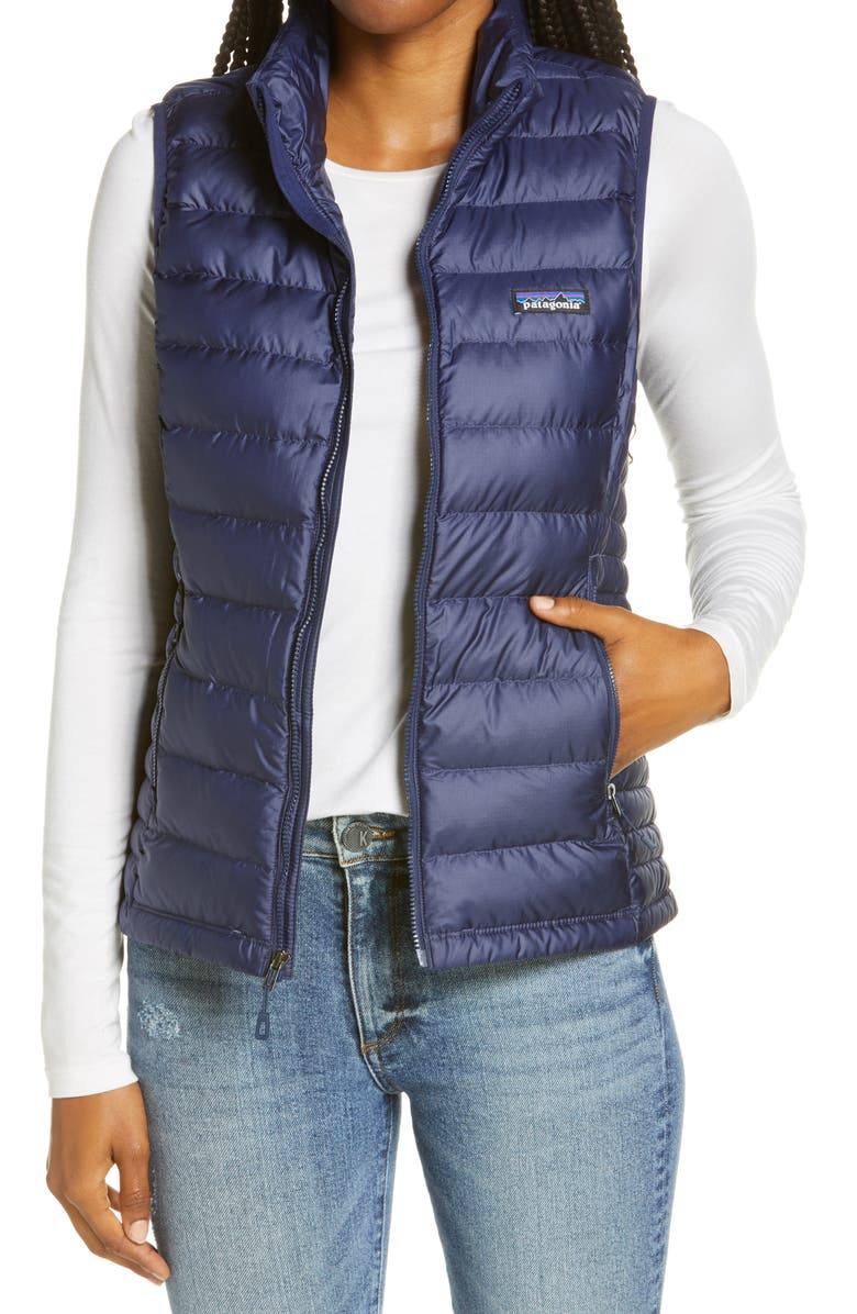 PATAGONIA Down Vest, Main, color, CLASSIC NAVY